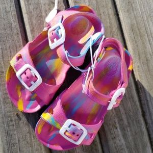 Bright Rainbow Sandals NEW